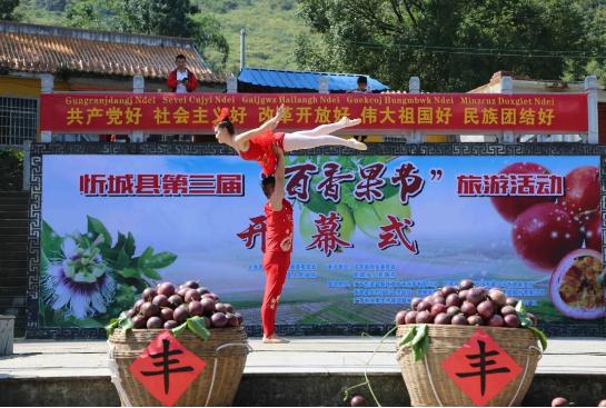 """金秋林乡旅,百果庆丰收。忻城县第四届""""百香果节""""开始啦"""